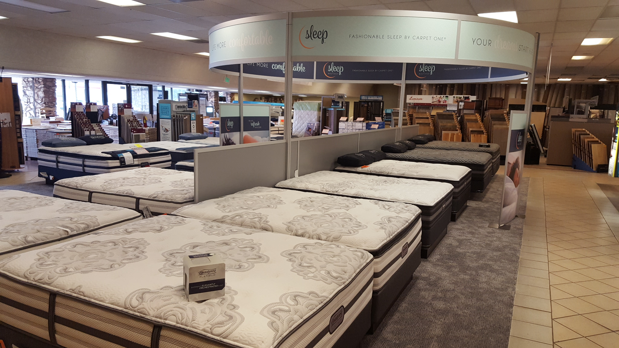 Santa Barbara Mattress Expo showroom